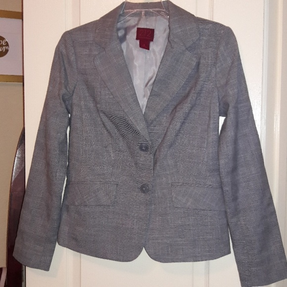 212 Collection Jackets & Blazers - 212 Collection Smart Silver Grey Blazer